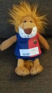 Barcelonaa kannattava leijona.