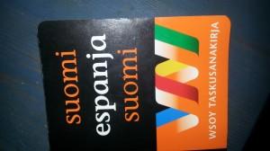 Vähän uudempi espanjan sanakirja vanhan, pienemmän mutta vanhentuneen tilalle, 2 €.