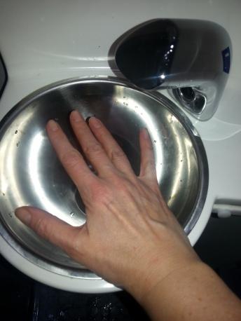 Kädenpesuallas.